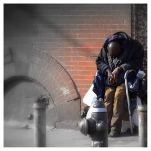 """Broken American Hero - NYC, Harlem"""" This man was once taken care (fighting) for his Country... see how his Country is taken care off him now - What a Shame! """""""